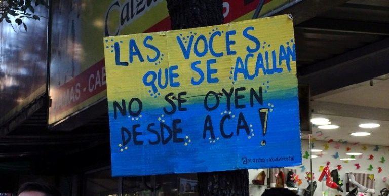 """""""¡Las voces que se acallan no se oyen desde acá!"""" Fotografía de Ana Paula Gauna"""